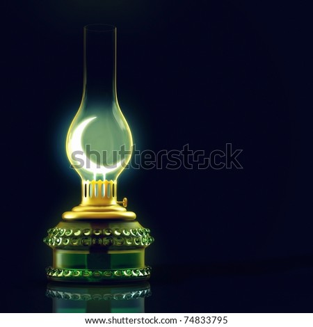 3D render of a lantern - stock photo