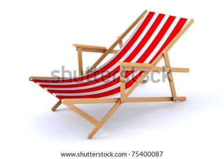 3d render of a modern beach chair/ beach chair/ - stock photo