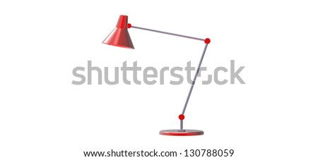 3d render of a Office Desk Lamp isolated on a white background - stock photo