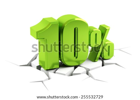 3d render of a 10 percent - stock photo