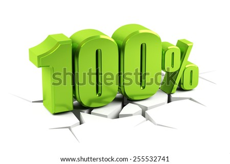 3d render of a 100 percent - stock photo