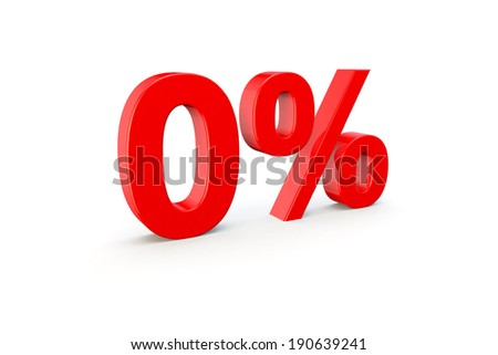 3d render of a percentage number on a white background - stock photo