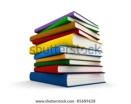 3d render of a pile of books