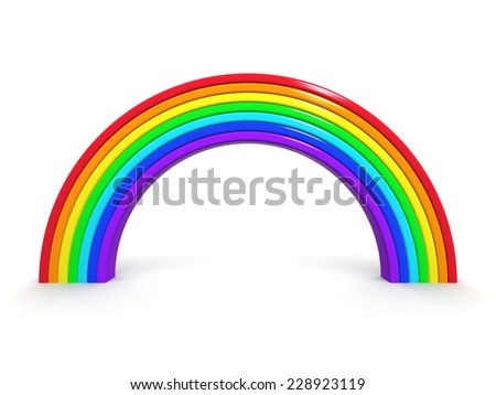 3d render of a rainbow