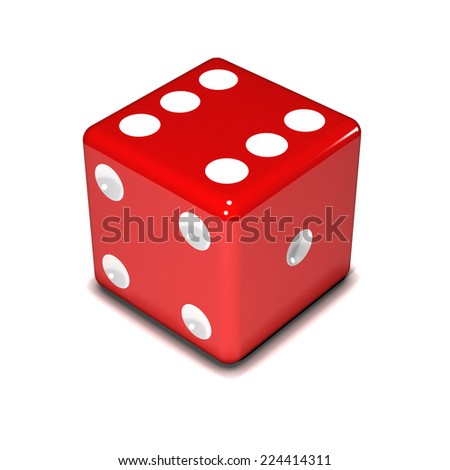3d render of a red dice