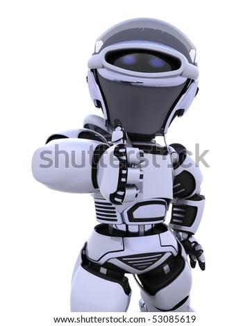 3D render of a robot - stock photo