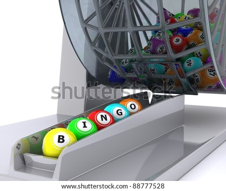 3d render of a set of colouored bingo balls - stock photo
