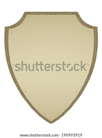 3d Render of a Shield Plaque - stock photo