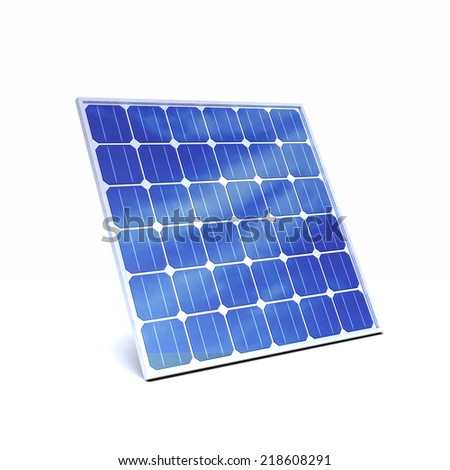 3d render of a solar panel - stock photo
