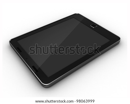 3D render of a tablet pc - stock photo