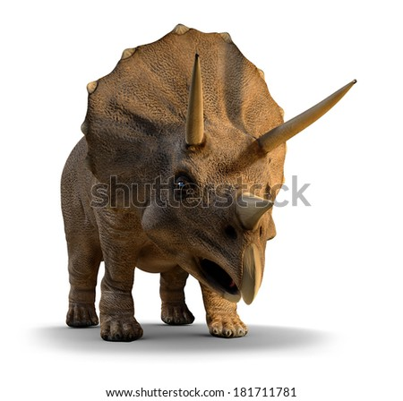 3d render of a triceratops - stock photo