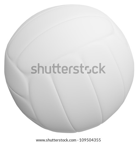 3d Render of a Volleyball - stock photo