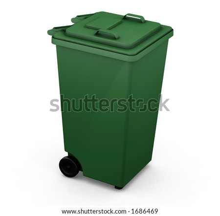 3D render of a wheelie bin