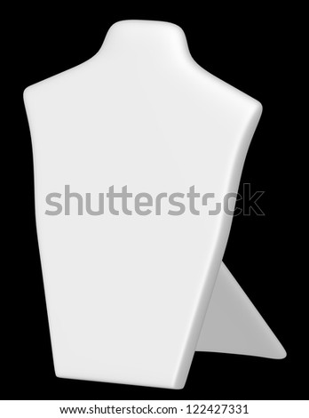 3d Render of a White Necklace Display Stand