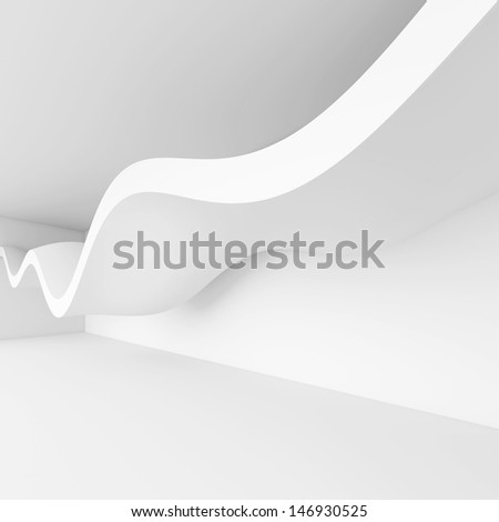 3d Render of Abstract Architecture Background - stock photo