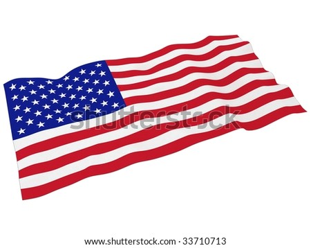 3d render of american flag