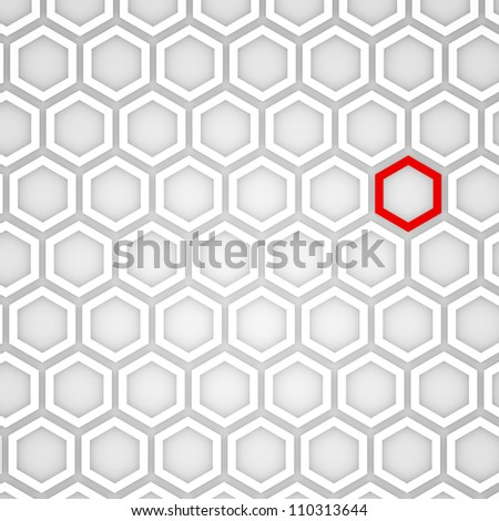 3d Render of an Abstract Hexagonal Background