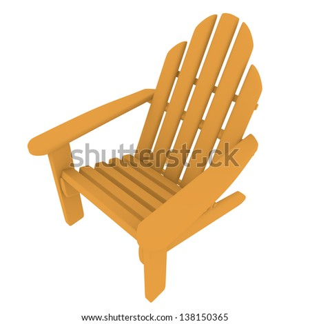 3d Render of an Adirondack Chair - stock photo