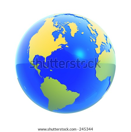 3D render of an earth globe.