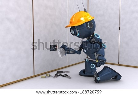 3D Render of an electrical contractor