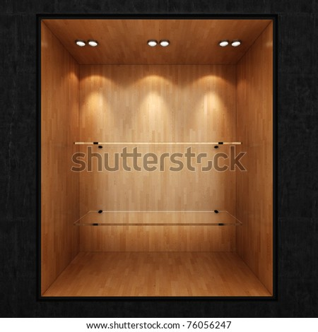 3d render of an empty presentation showase - stock photo