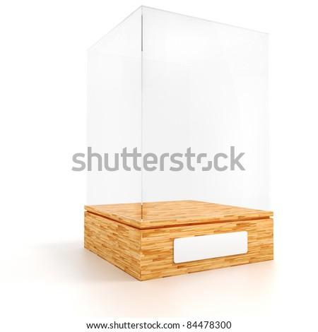 3d render of an empty presentation showase - stock photo