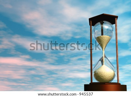 3D render of an hourglass - stock photo