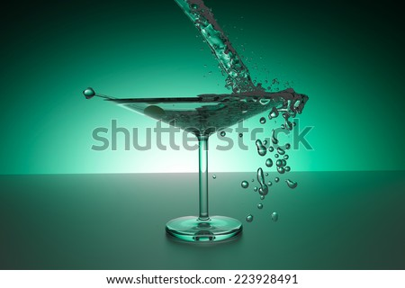 3D-Render of an Martiniglas - stock photo