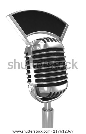 3d render of an old radio microphone