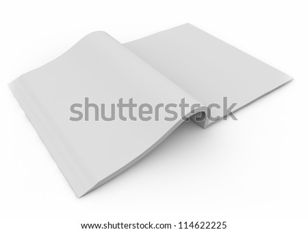3d render of an open book - stock photo