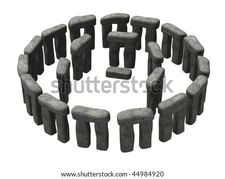3d render of ancient stonehenge - stock photo