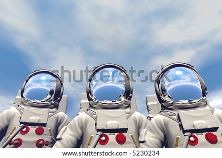 3D render of astronaut - stock photo