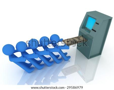 3d render of atm machine. Finance concept. - stock photo