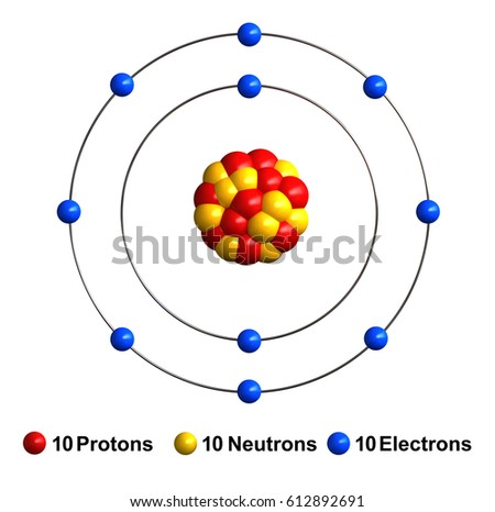 3 d render atom structure neon isolated stock illustration 612892691 3d render of atom structure of neon isolated over white background protons are represented as red ccuart Image collections
