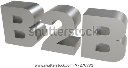 3d render of B2B ( Business 2 business ) sign - stock photo