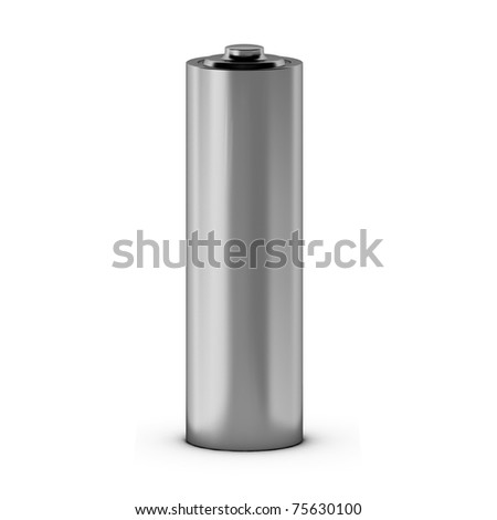 3d render of battery - stock photo