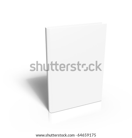 3d render of Blank book cover template - stock photo
