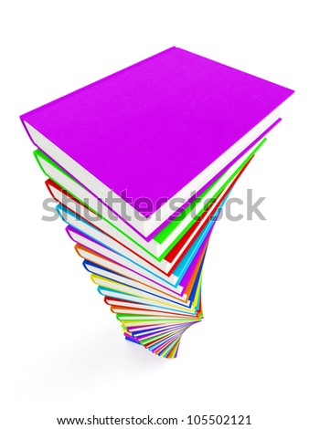 3d render of book education concept isolated on white