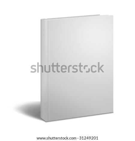 3d render of books on white background - stock photo