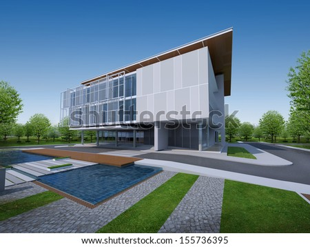 3D render of building