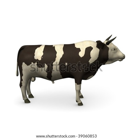 3d render of bull (farm animal)