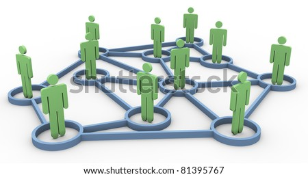 3d render of business community network concept - stock photo