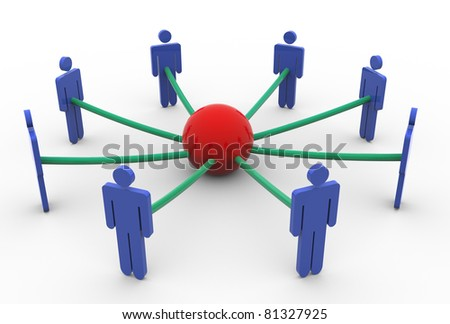 3d render of business network concept - stock photo