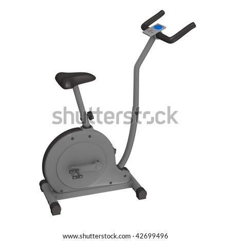 3d render of cardio bike