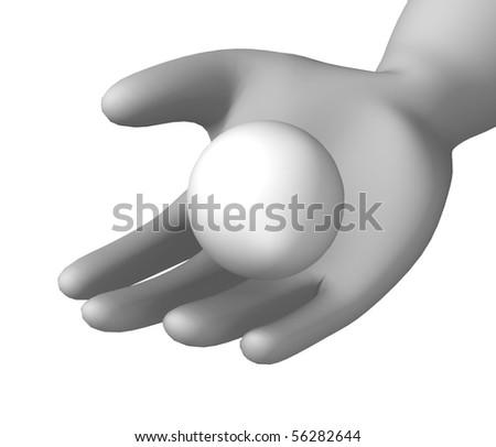 3d render of cartoon character with table tenis ball