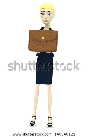 3d render of cartoon character with wallet
