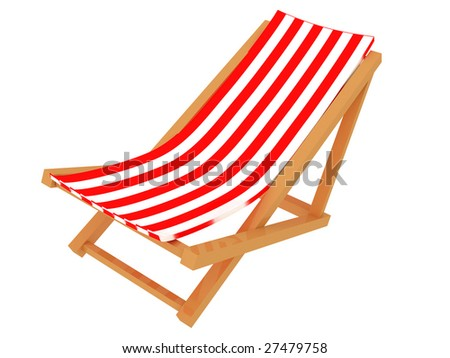 Deck chair on white background stock photo 609519398 shutterstock - Logo la chaise longue ...