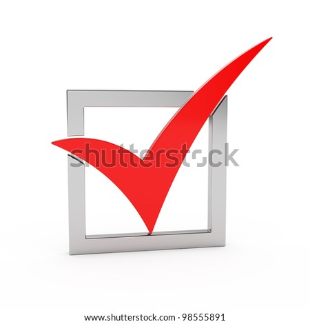 3d render of check mark - stock photo