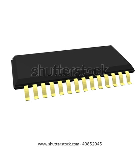 3d render of chip part - stock photo