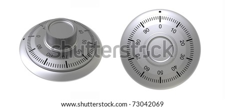 3d render of  coded lock on a white background - stock photo